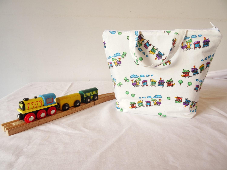 Zippered train storage bag zippered train tote bag train storage bag zippered toy storage bag train storage toy storage trains