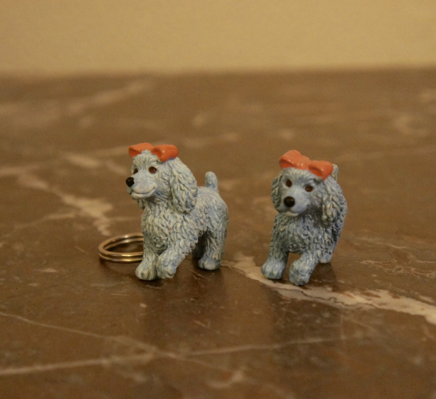 Two Vintage Puppy In My Pocket Toys Poodle Keyring And Figure 1994 Collectible Gift Retro Sister Daughter Girlfriend Friend Birthday