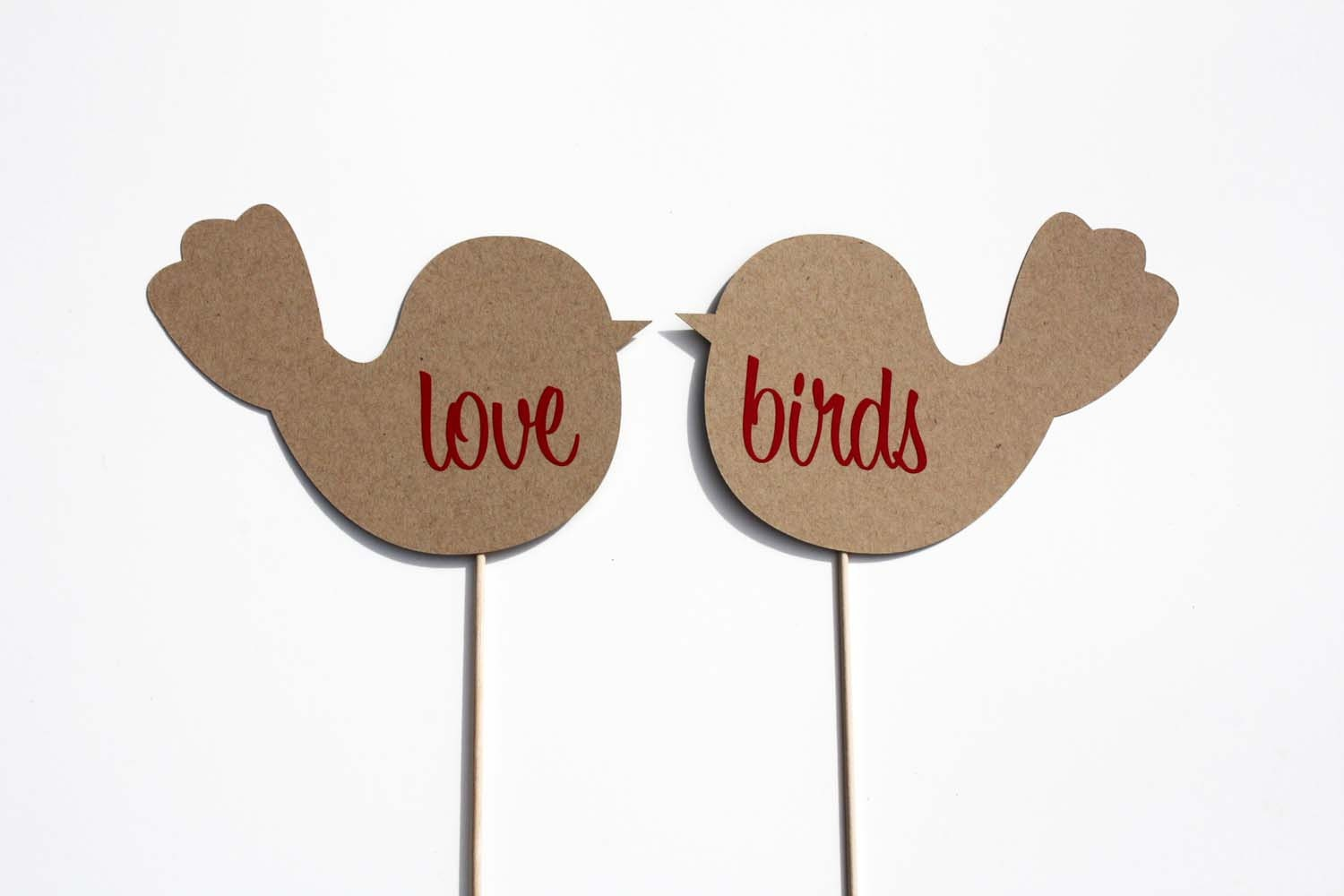 Set of Love Birds - Photo Booth Props - BeBopProps