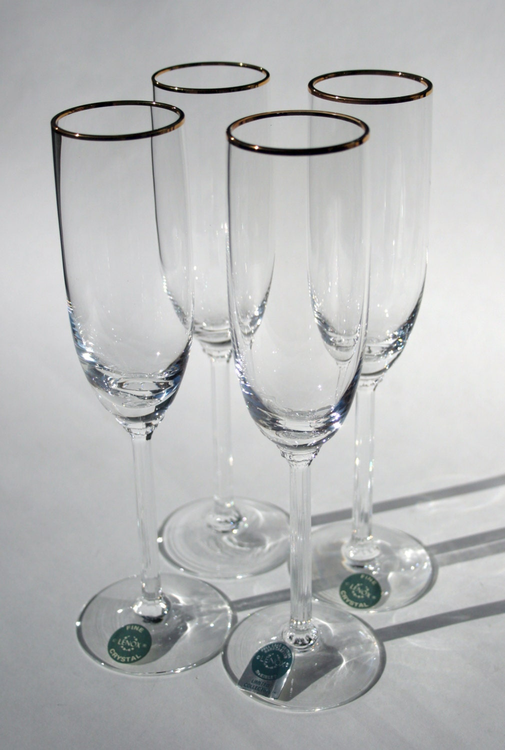 Handcrafted classic fine lenox full lead crystal by cherryrevolver - Lenox gold rimmed wine glasses ...