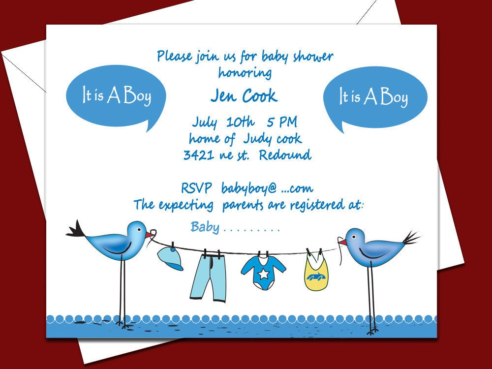 Baby Shower Templates Boy Free ~ Baby shower invitations for boys free templates party