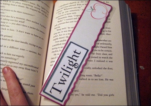 Twilight inspired Apple Bookmark