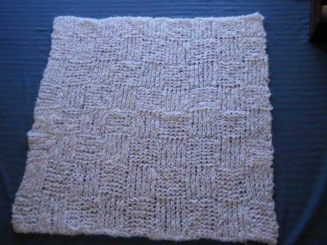 Knitting Pattern for a Baby Blanket in Pink Squares by KnittedGems