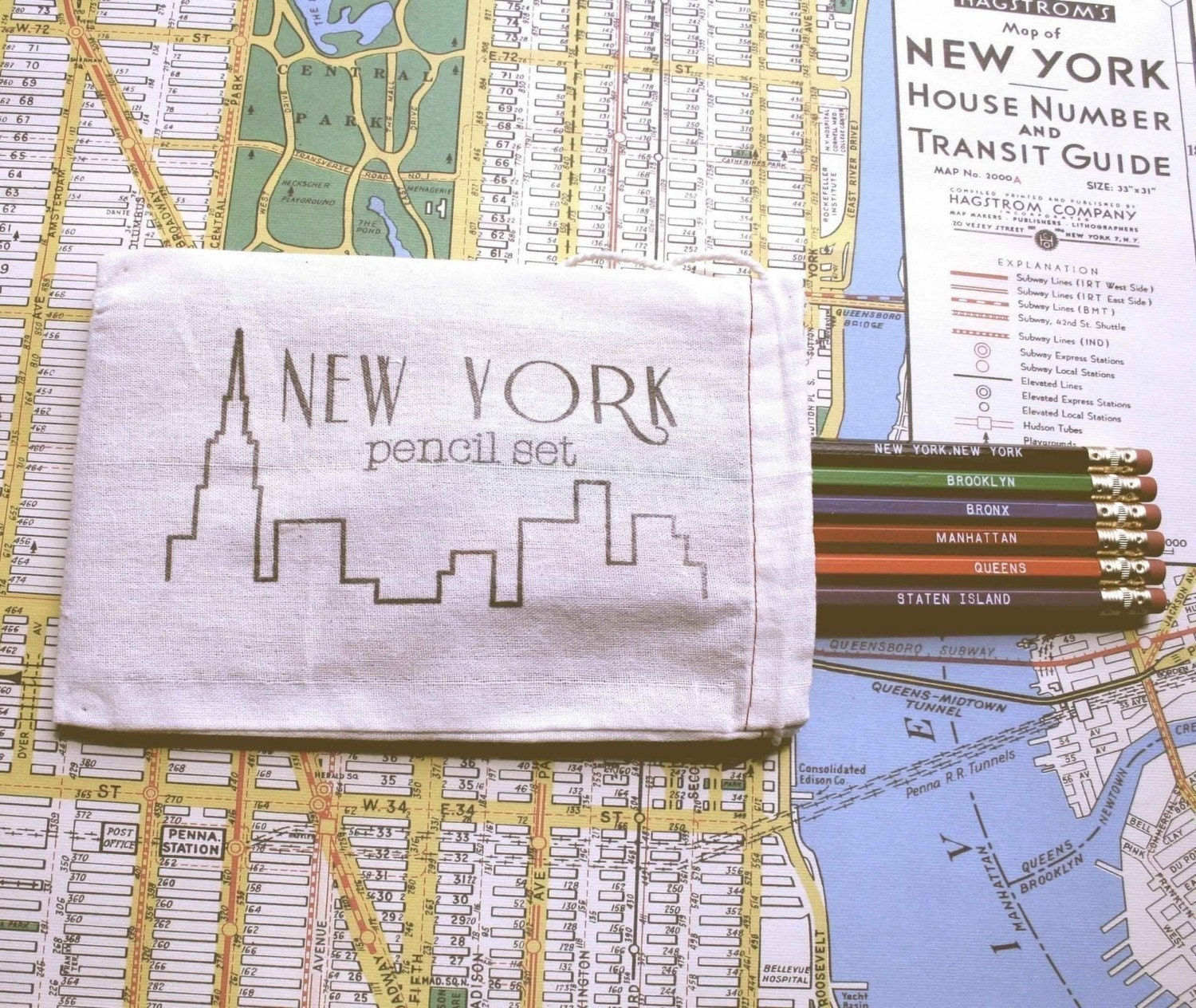 New York Pencil Set
