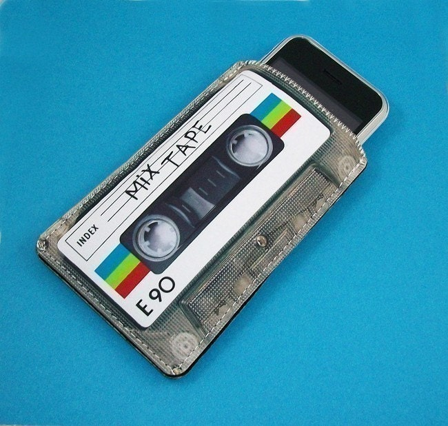 80's Retro Mix Cassette Tape Gadget Case - iPhone iTouch  and more