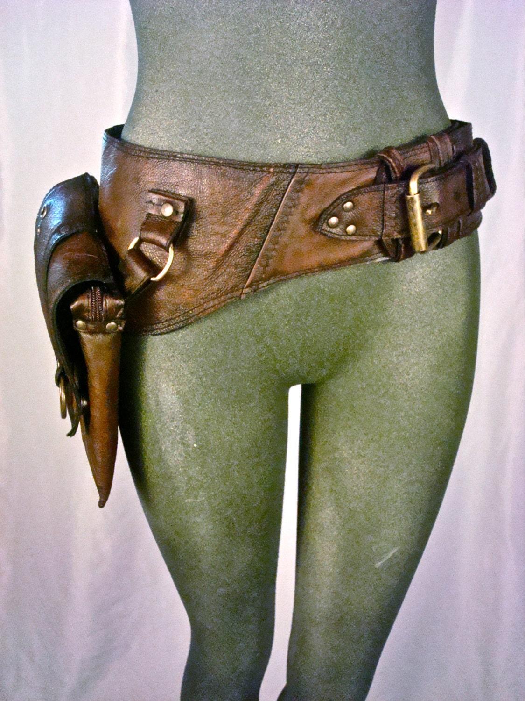 leather hip bag thigh bag burning tank by