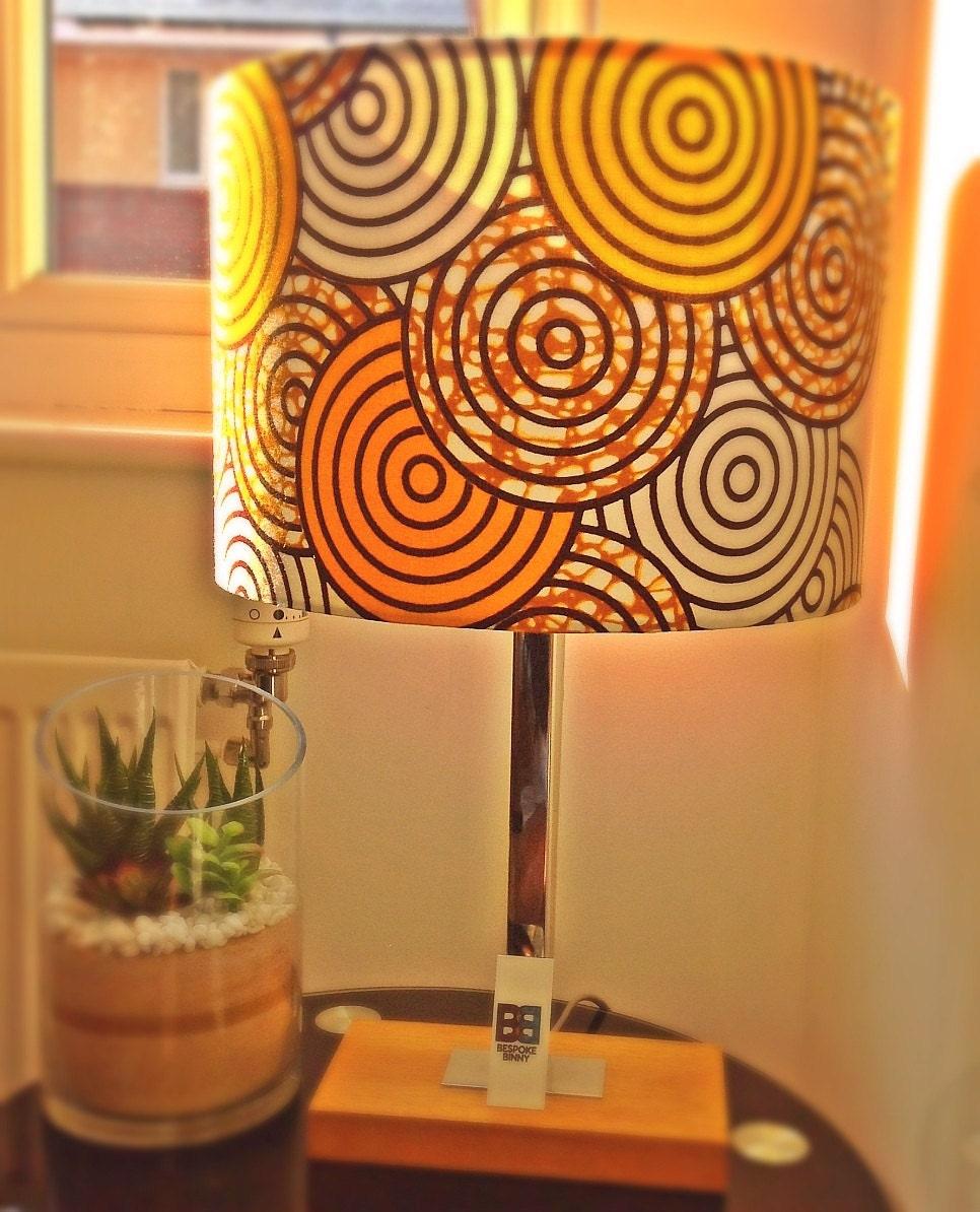 Handmade Lampshade - 30 cm - Sunshine Yellow African Print Fabric