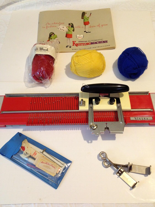 Vintage Knitting Machine : Vintage wonder knit automatic knitting by vintagefunkhouser