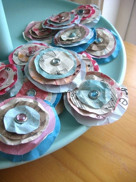 Shabby Chic Paper Posies