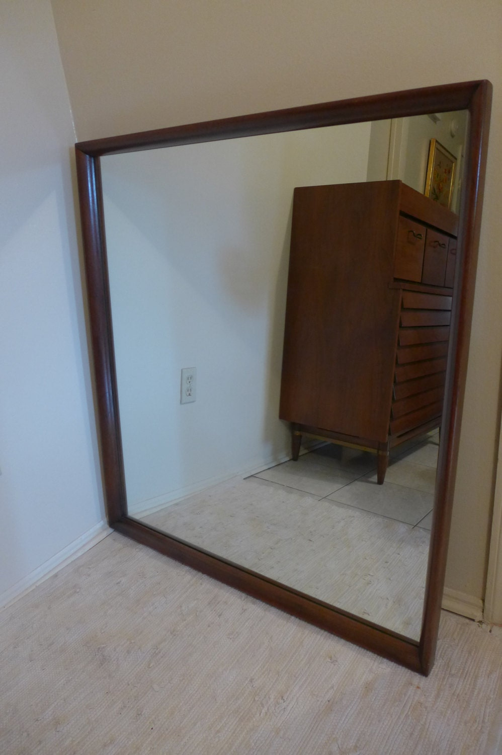 large american of martinsville walnut frame wall by