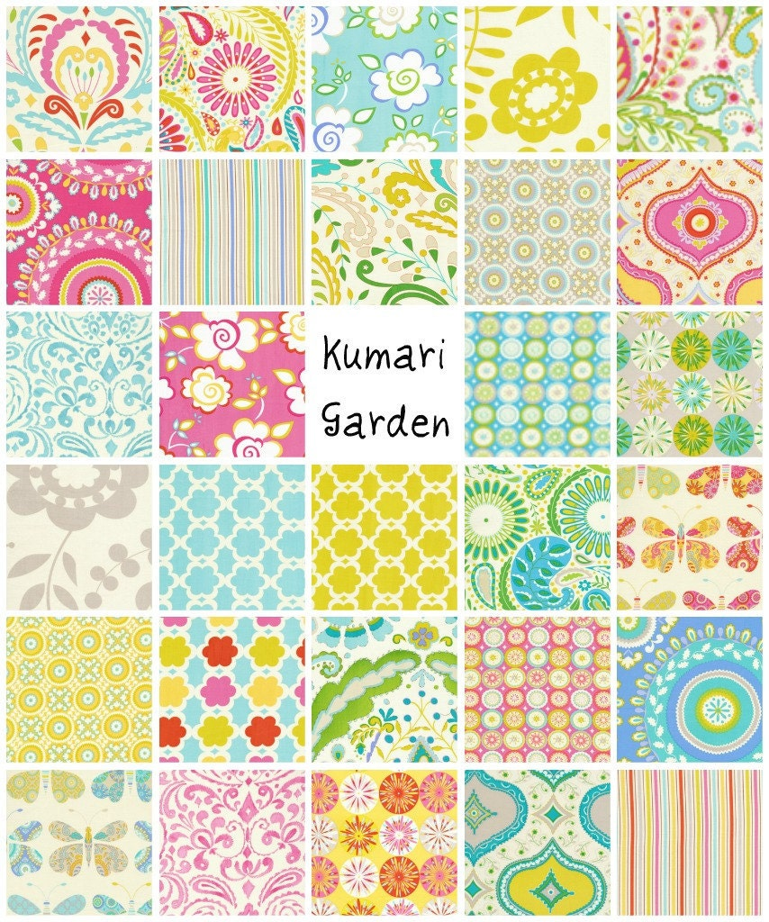 Kumari garden 10 quilt fabric squares quilt kit by for Kumari garden fabric by dena designs