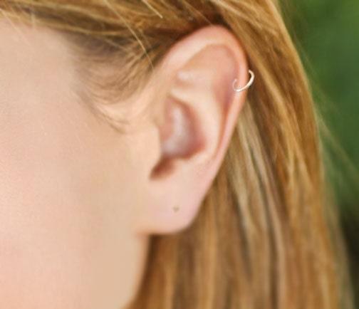Cartilage earring hoop sizes