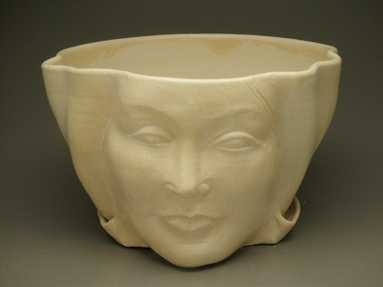 Face Planter Sculpture Flower Pot Head Garden Art By Adrienart