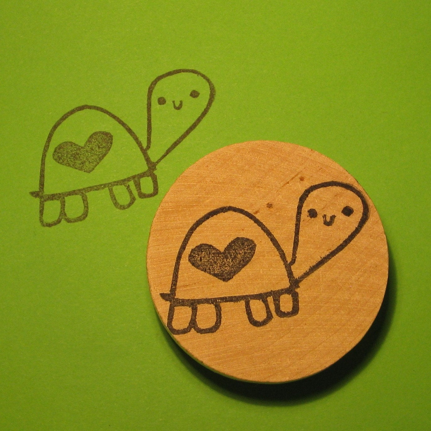 Cute turtle stamp