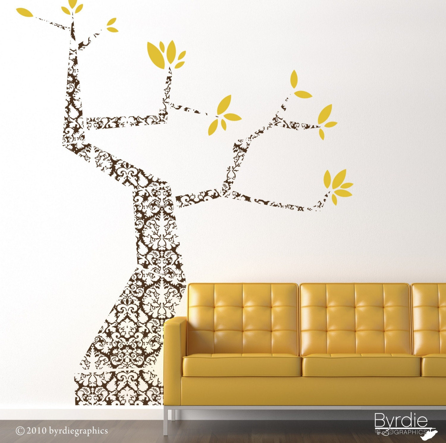 Modern  Damask Tree- item 30032
