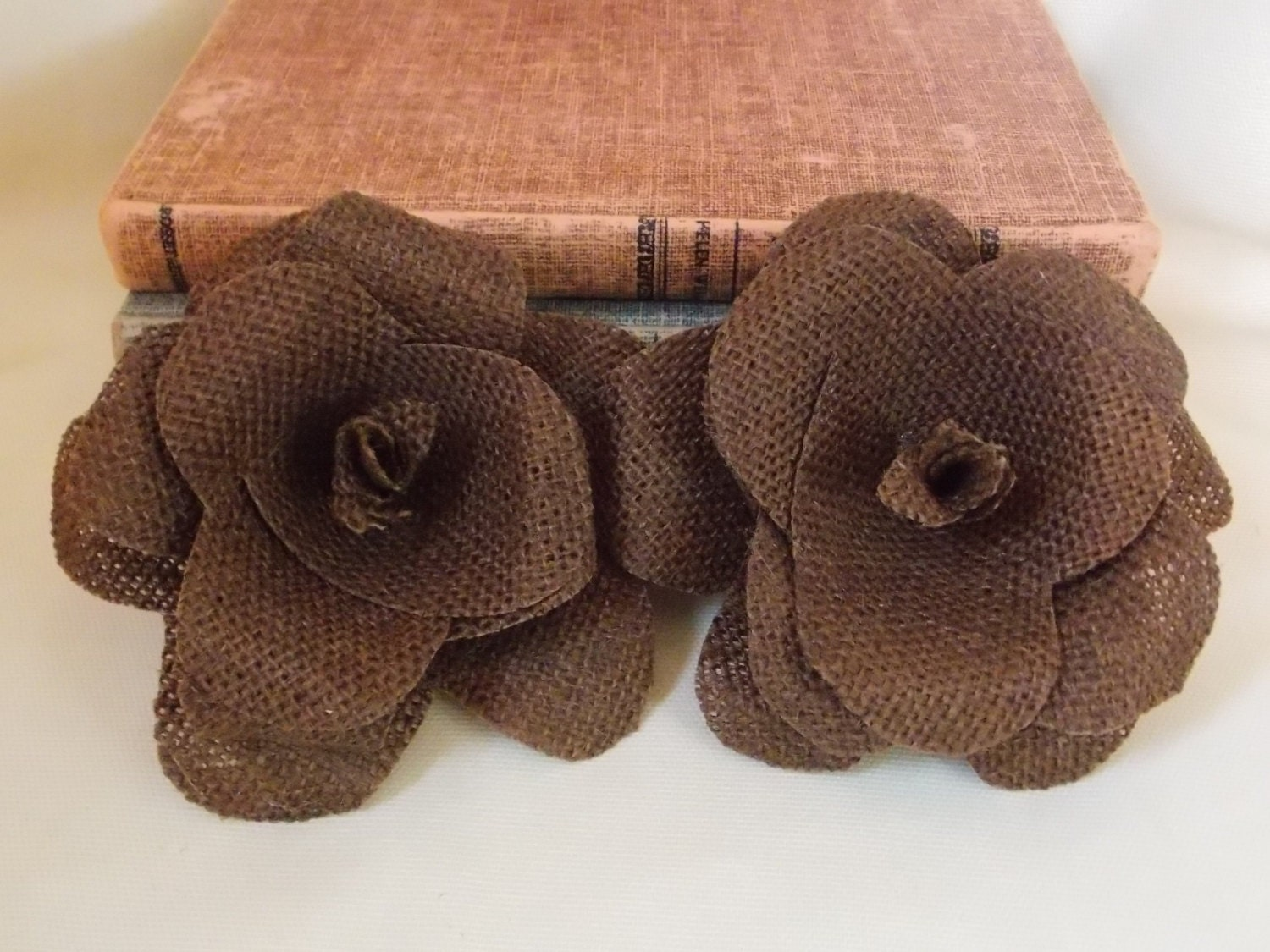 Burlap Wholesale Flowers Table Decoration Decor Country Shabby Chic Rustic Decor Home Decoration Brown Flowers Autumn Fall Decoration