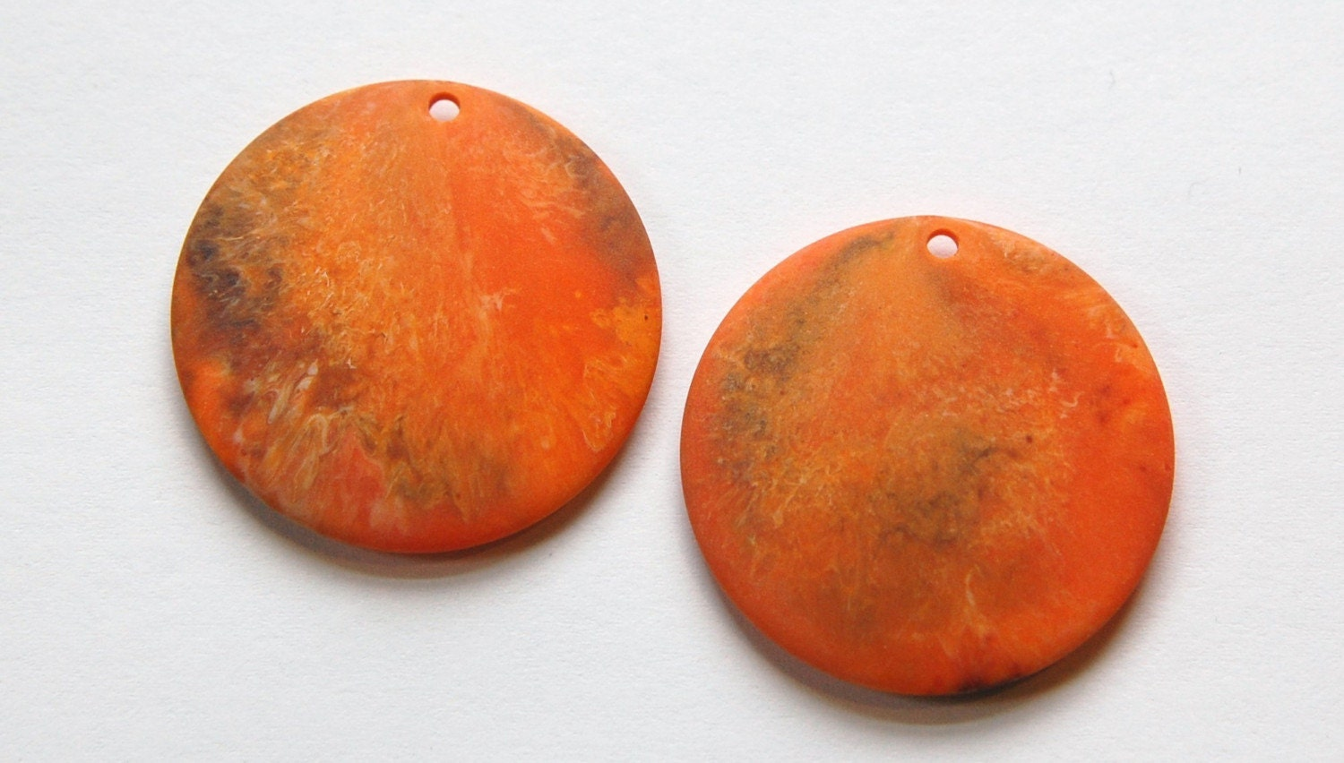 Vintage Matte Orange Marbled