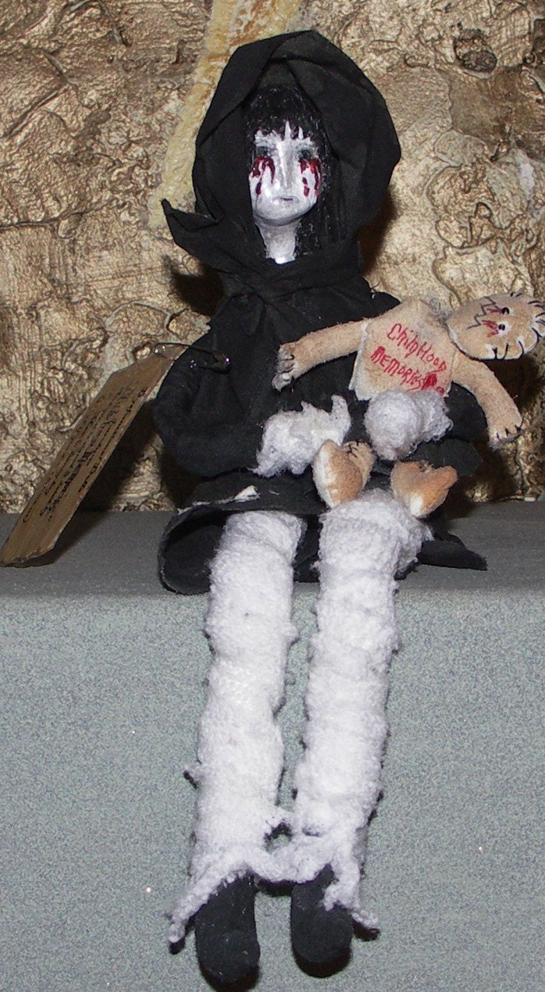 Ooak Original Dysfunctional  Art Doll By Maw and Sonny Boy Childhood Memories FREE SHIP WITHIN THE U.S.
