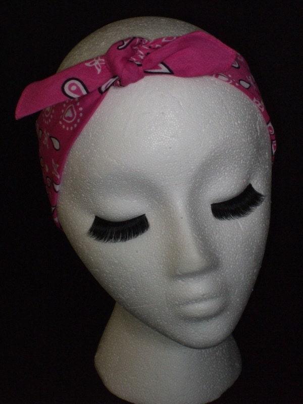 rockabilly hair and makeup. makeup andana in hair rockabilly hair with bandana.