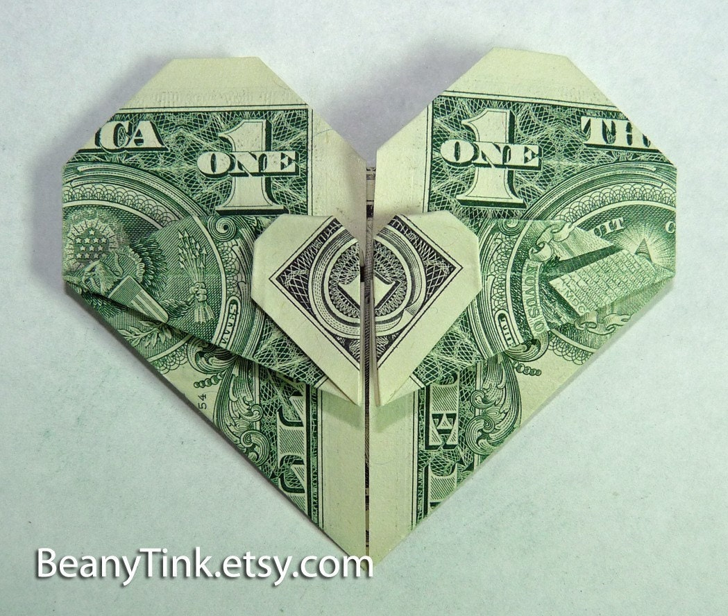 HEART DOLLAR BILL ORIGAMI « EMBROIDERY & ORIGAMI - photo#5