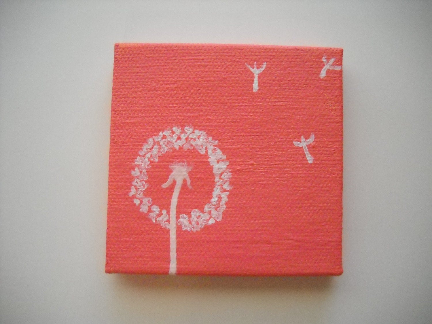 "Original Hand Painted 3x3 inch Mini Canvas Magnet - ""I Wish"""