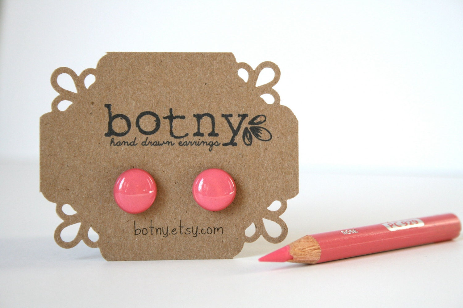 Neon Hot Pink Brook Earrings