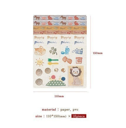 Multi Sticker Pack- 16 sheets