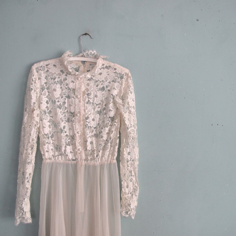 vintage SHEER LACE romance dress