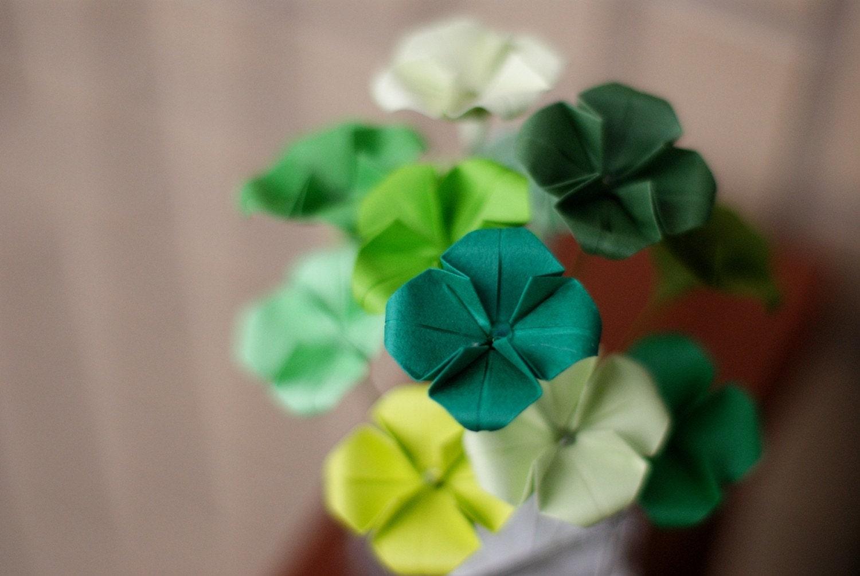 The Origami Forum • View topic - Mini Origami 4 Leaf ... - photo#32
