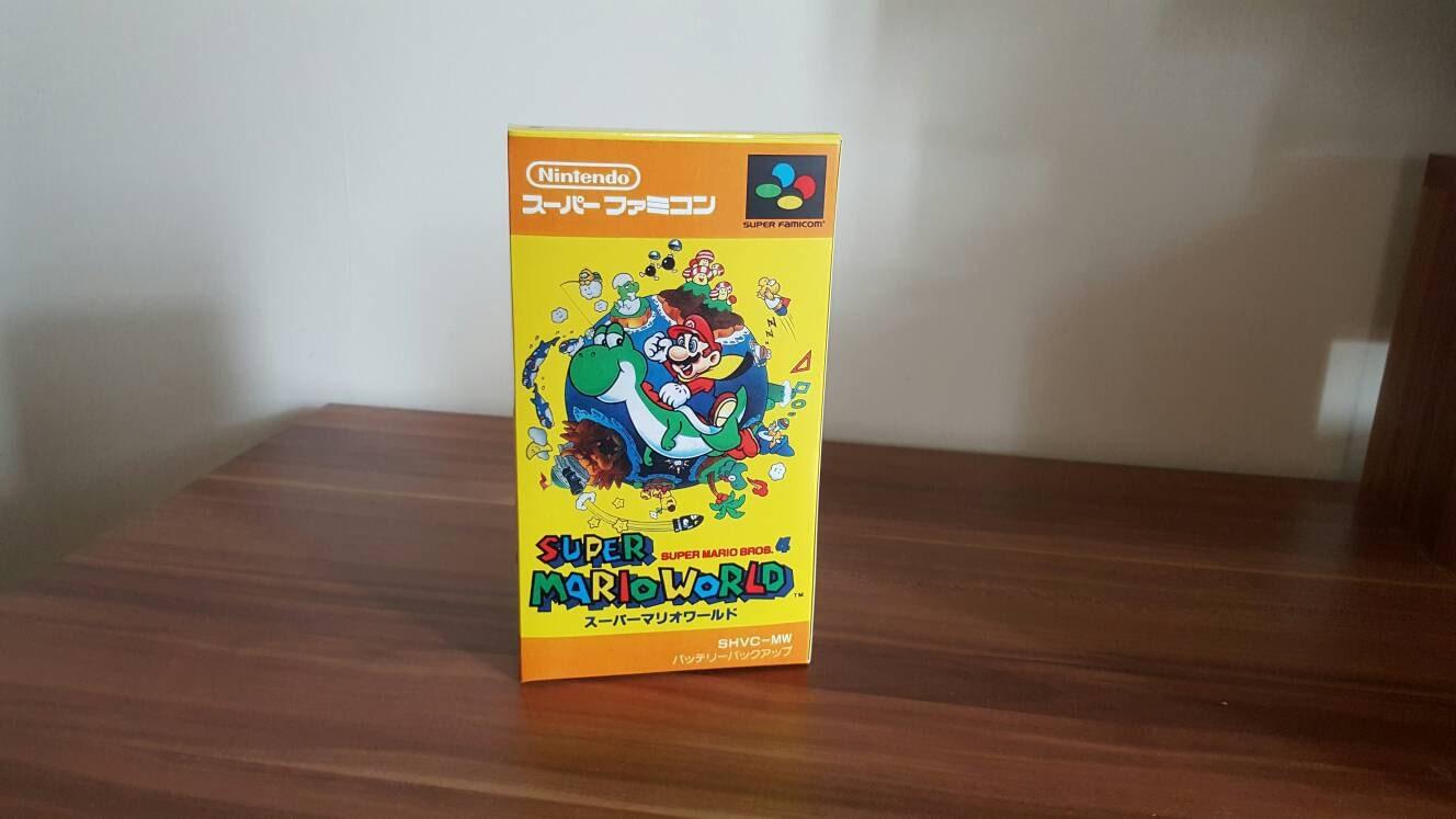 Super Famicom Super Mario World Repo Box NO GAME INCLUDED