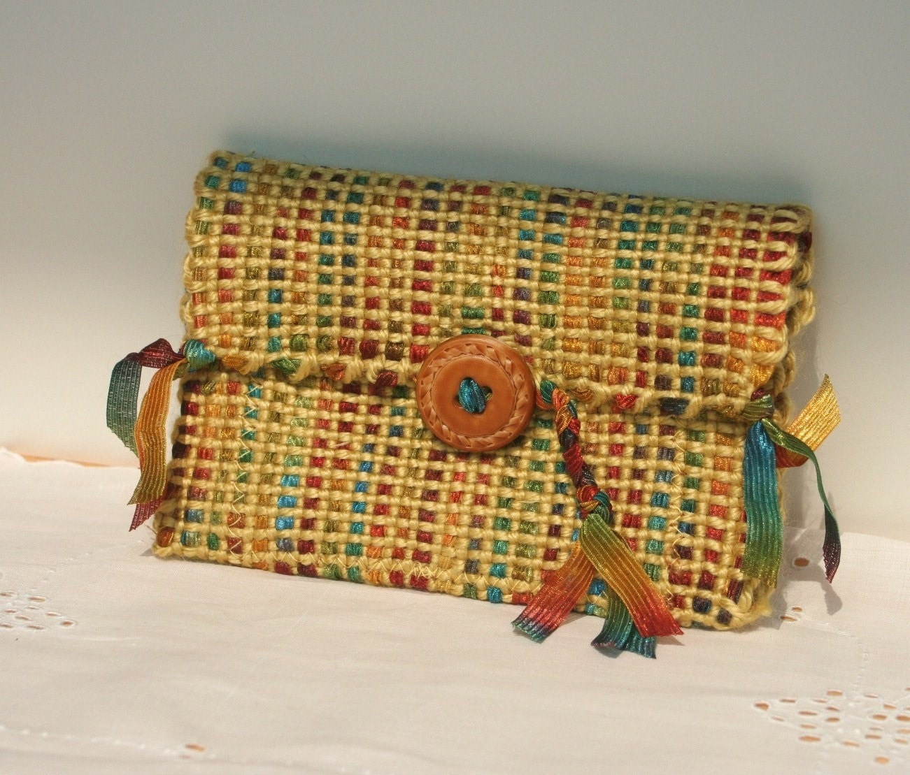 Tri Fold  WoVeN WalleT, hand made, one of a kind