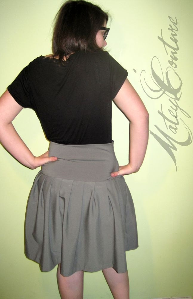 High Waisted Sailor Skirt  //  Vintage Inspired  //  Small/Medium