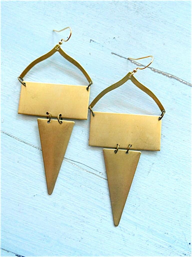 Amrita Brass Earrings
