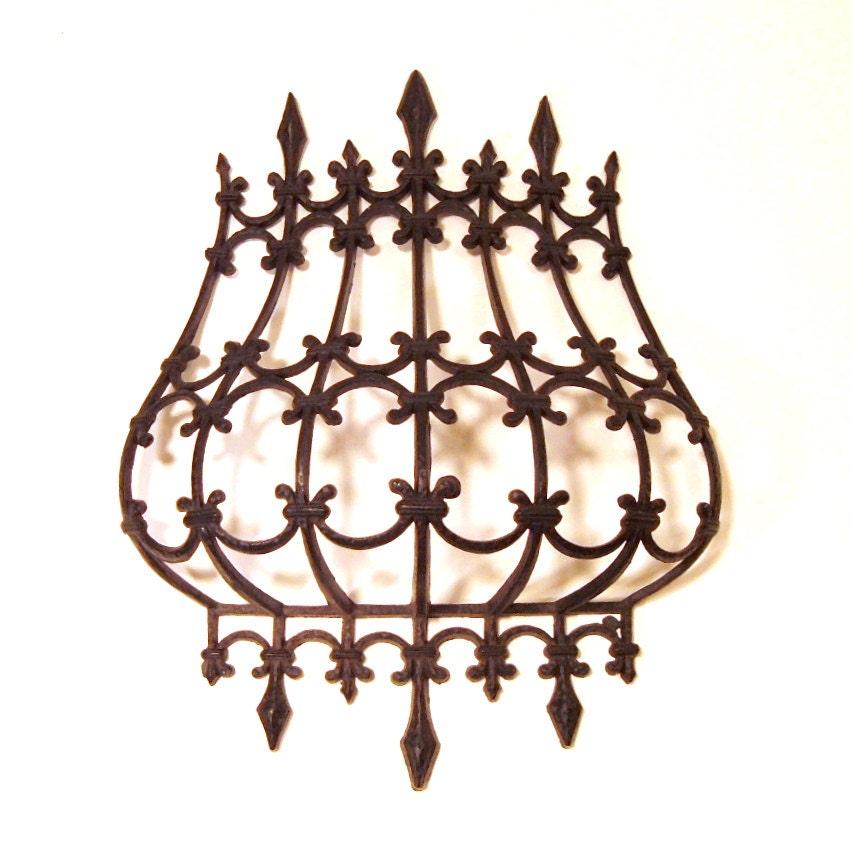 Items similar to Faux Wrought Iron Retro Home Decor 1972