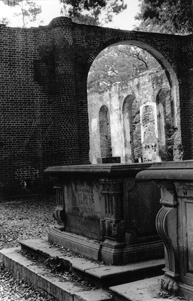 Sheldon Church Ruins and Graveyard no.2 (original black and white photograph, matted) - Halloween