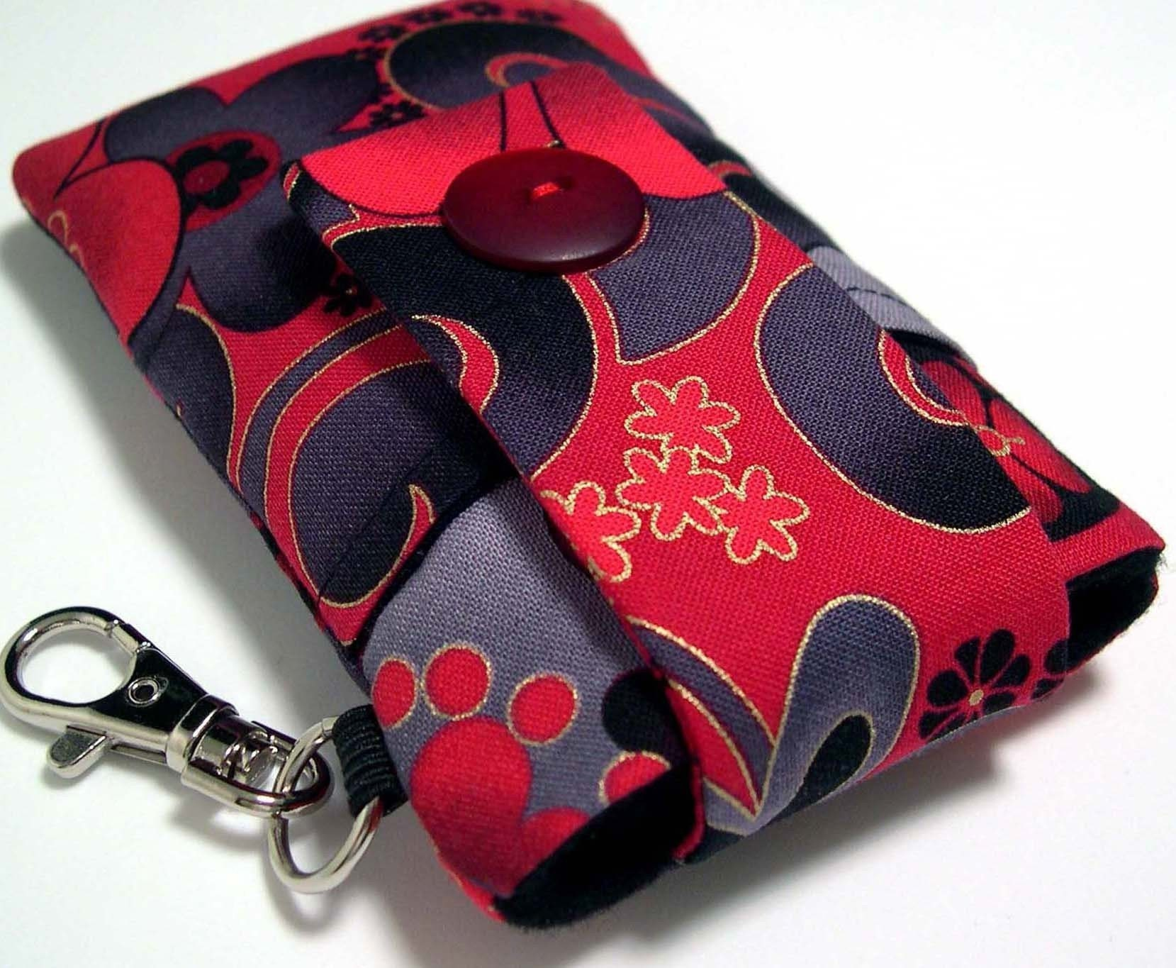 PADDED iPhone / iPod POUCH in MIDNIGHT SAKURA fabric