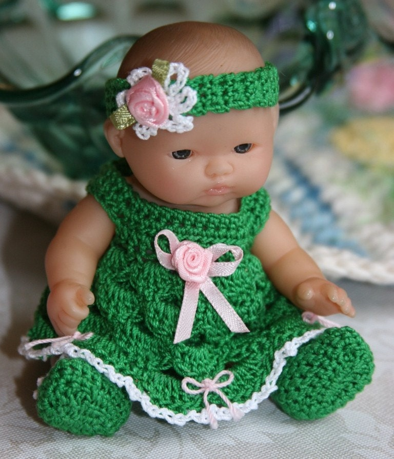 Crochet Patterns For Doll Clothes : Crochet Baby doll clothes Berenguer 5 inch by ...