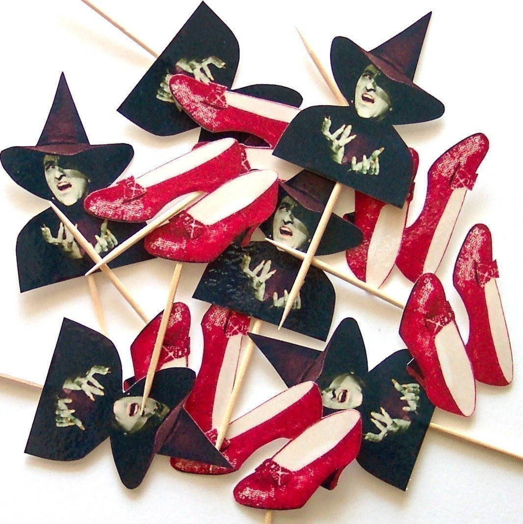 Wizard of Oz - Cupcake Toppers - Set of 24 Picks