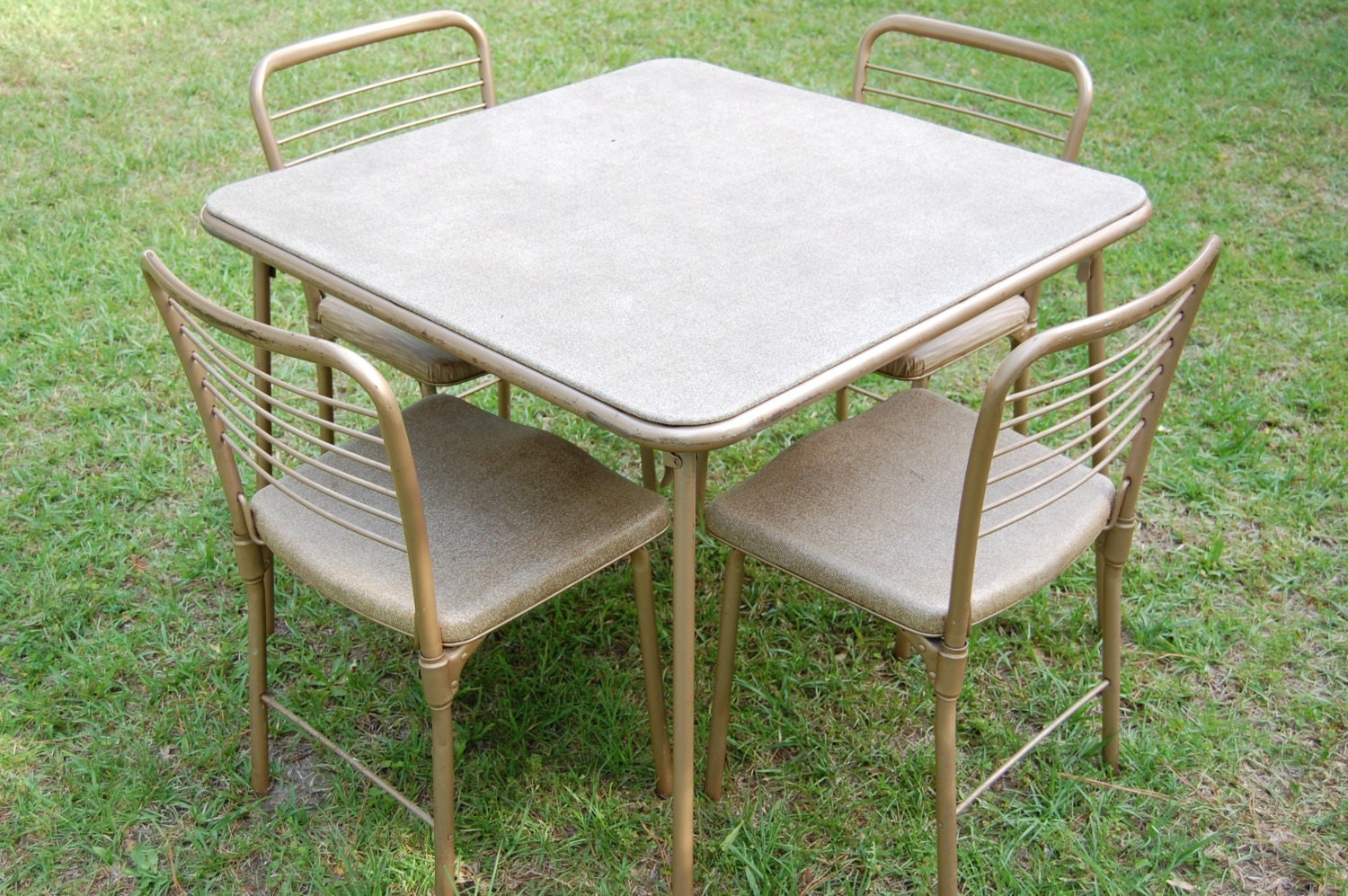 Vintage Cosco 1950s Metal Table And Chairs By PickersWarehouse
