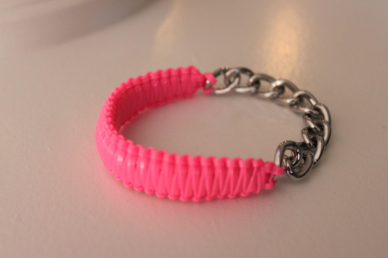 Neon Pink Punch Bracelet