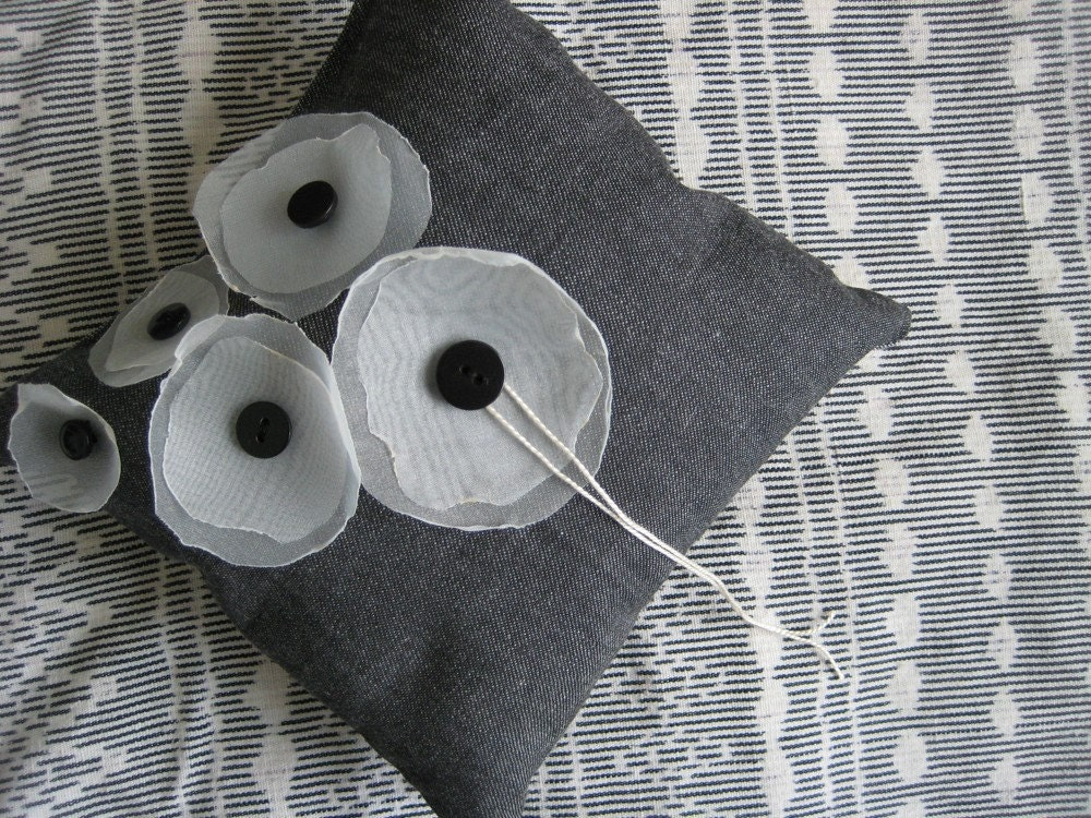 Modern Poppy Ring Pillow