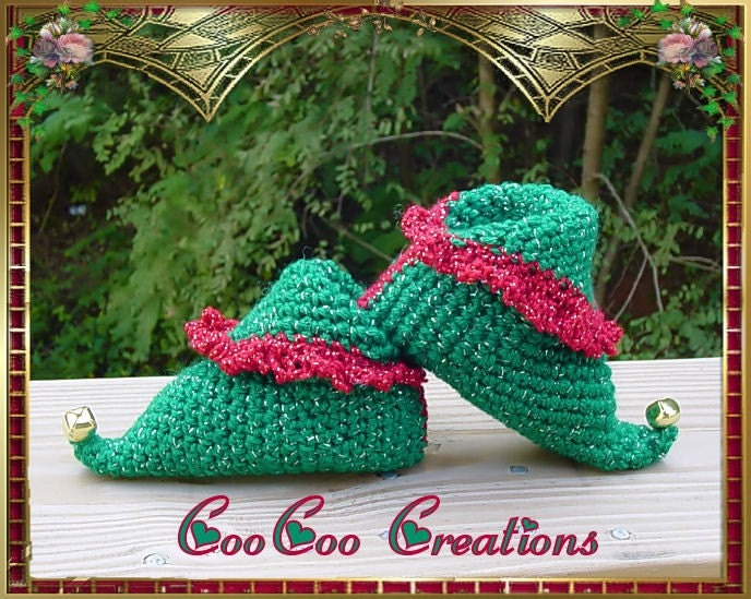 Simple Crochet Baby Slippers - A Free Pattern