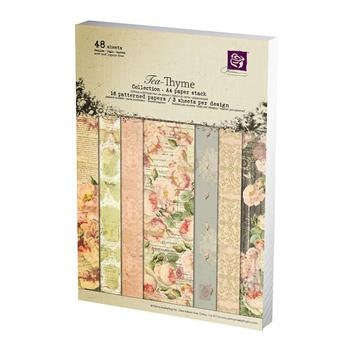 in STOCK Prima TEA Thyme A4 paper pad - cardstock collection - just released cha 2012