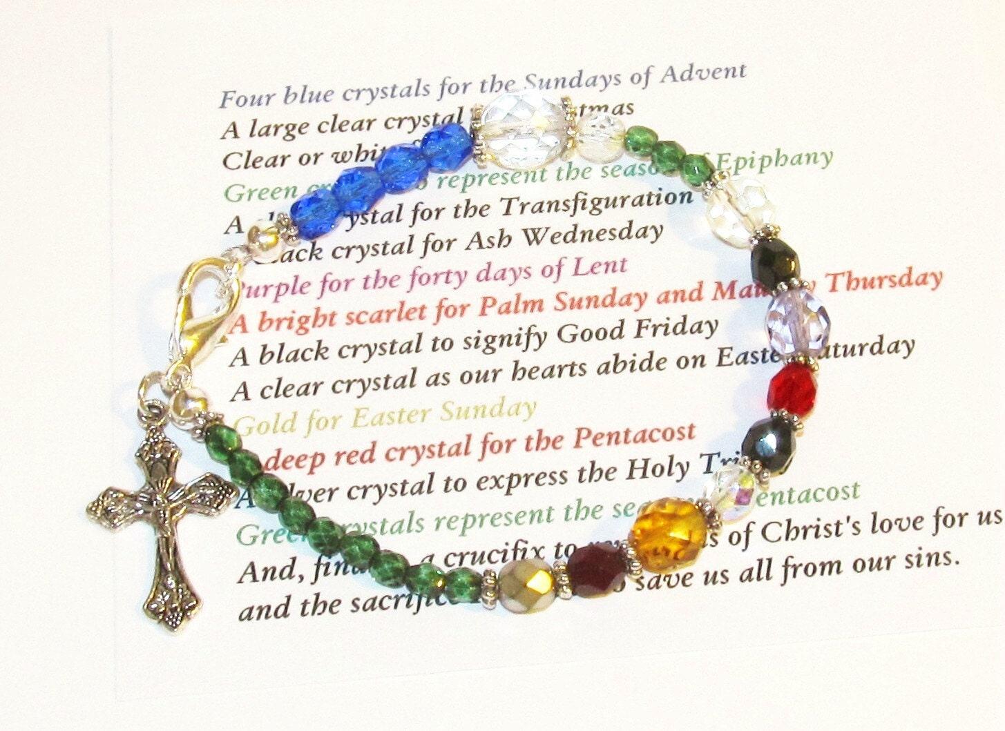 traditional christian prayer bracelet by foodforthesoul on