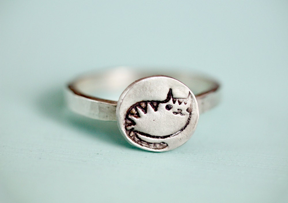 silver cat ring eco friendly sterling silver by boygirlparty