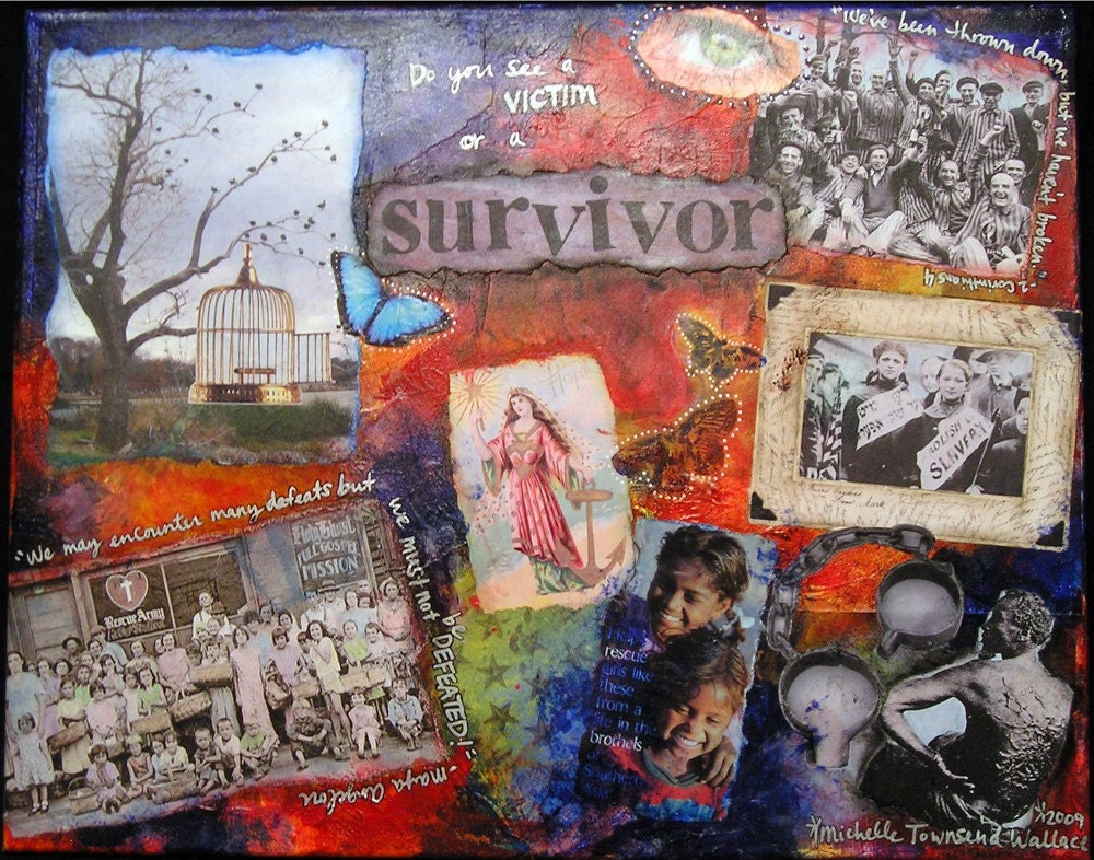 Survivor- Mixed Media Print
