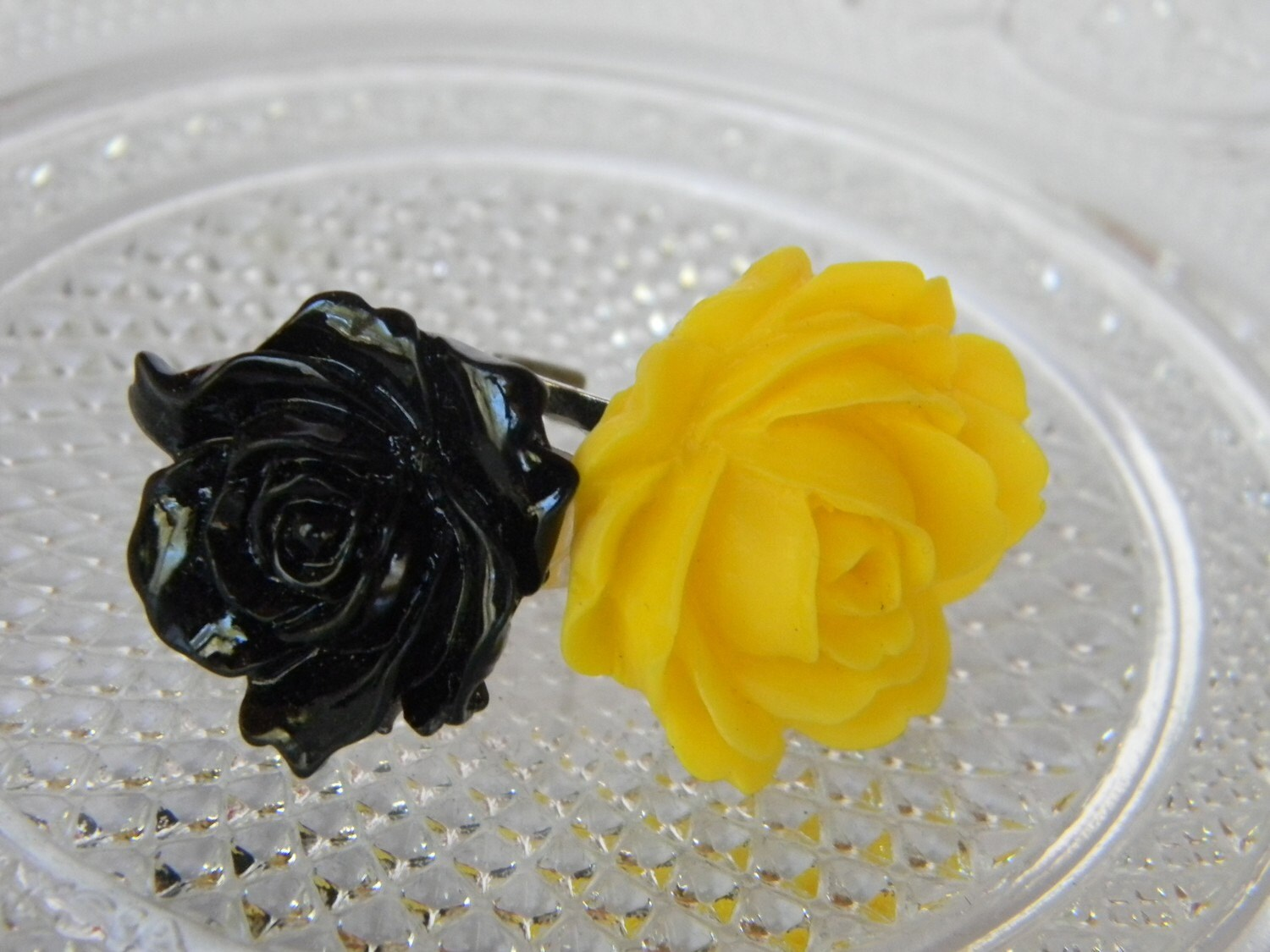 SALE-Two Rose Rings