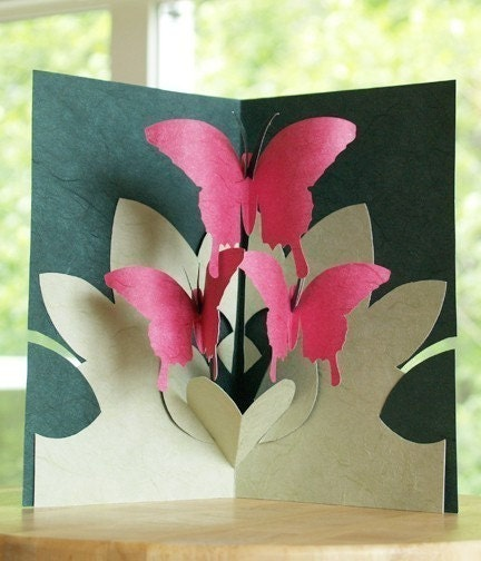 Kirigami Pop-up Cards, Make Yourself (4 patterns included)