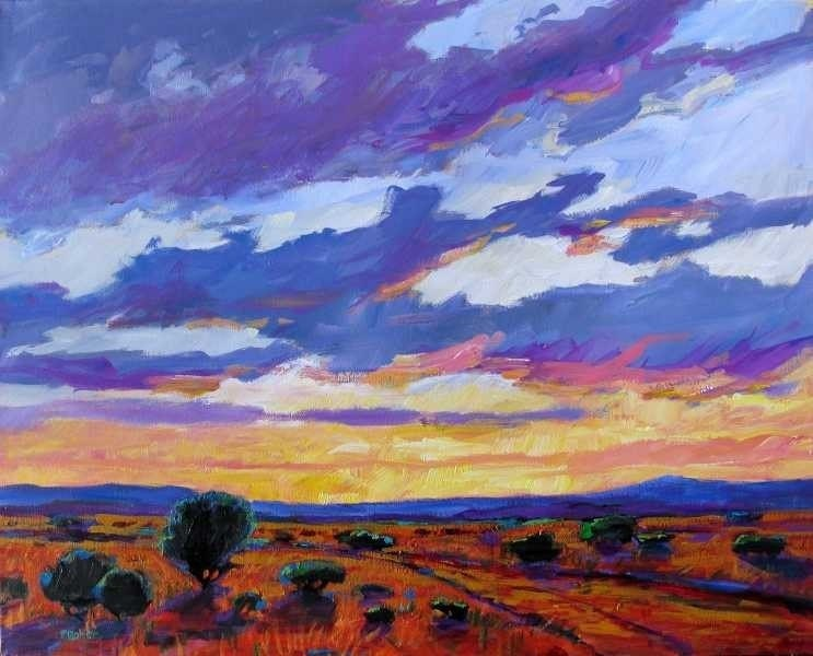 New Mexico Sunset - Giclee Print