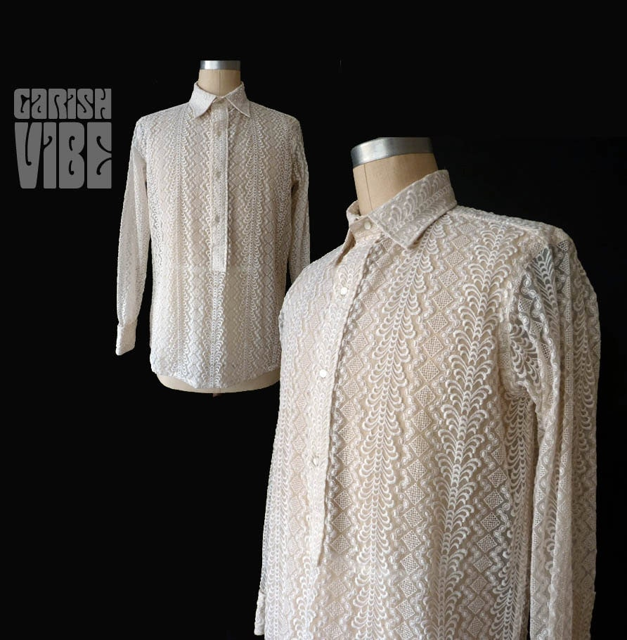 Wedding Gifts For Bride And Groom Philippines : ... Shirt Vintage 1970s GUAYABERA FILIPINO Style WEDDING Shirt Groom